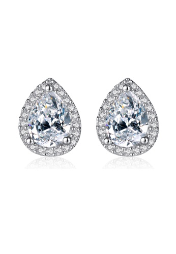 SUNRAIS silver High quality Silver S925 silver drop-shaped earrings AA84AACD306FACGS_1