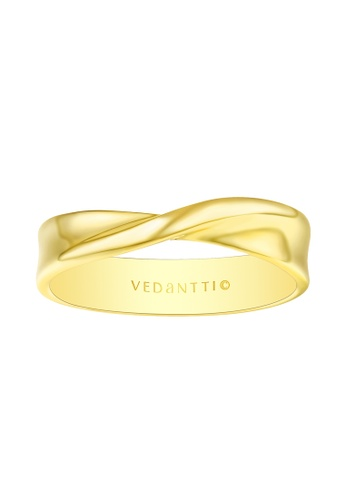 Vedantti 黃色 Vedantti 18K 永遠摯愛系列-黃金戒指 B5AF0AC39DB59BGS_1