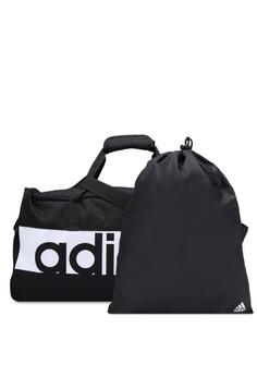 adidas-adidas essentials linear performance 中等團隊袋