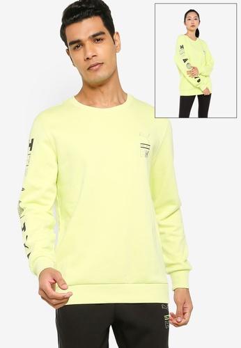 PUMA yellow PUMA x HELLY HANSEN Crew Neck Sweater 14429AAE59B6B2GS_1