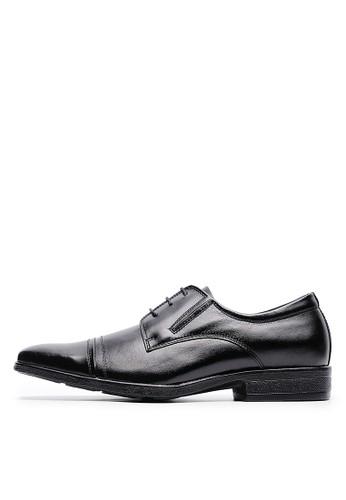 MIT緩衝抗震。簡約頭層牛esprit bag皮休閒皮鞋-04712-黑色, 鞋, 皮鞋