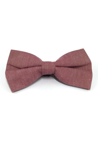 Splice Cufflinks Lucid Series Burgundy Polyester Fabric Bow Tie SP744AC85QQGSG_1