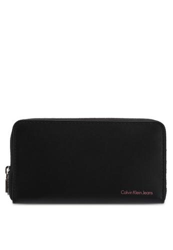 Calvin Klein black Zip Around Purse - Calvin Klein Accessories 1CD72ACF371AFAGS_1