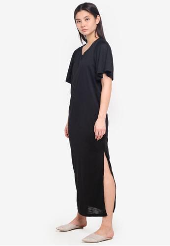 ICHI black Flora Dress 1B2FAAA7BEF483GS_1