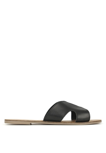 Betts black Caprice Cut Out Leather Sandals 190B0SHAFFA0DDGS_1