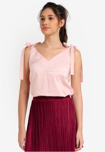 Something Borrowed pink Tie Detail Cami Top 01CAFAA6CD2667GS_1