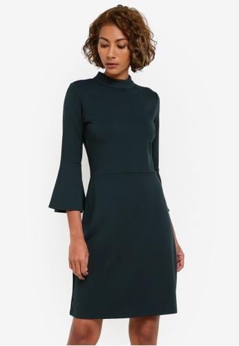 WAREHOUSE green High Neck Ponte Dress WA653AA0RZIBMY_1
