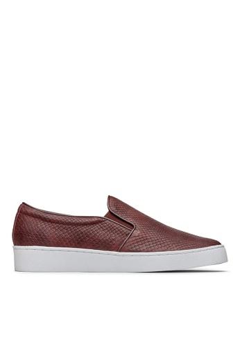Vionic red Midi Snake Slip-On Sneaker 1D29CSHFD64441GS_1