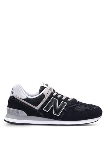 New Balance black 574 Lifestyle Core Sneakers F07F8SHCA9DE1FGS_1