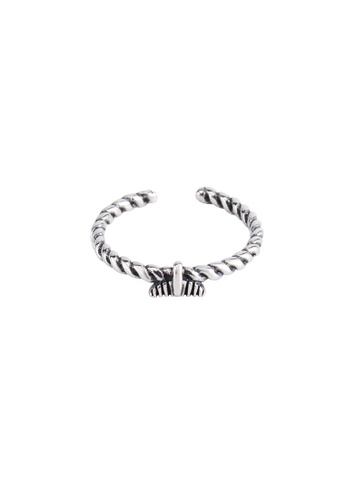 A-Excellence silver Premium S925 Sliver Fishtail Ring 2C6CBAC1B9AEE9GS_1