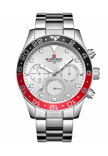 Naviforce silver Naviforce Silver, Red and Black Watch 24B36ACD3DD4DEGS_1