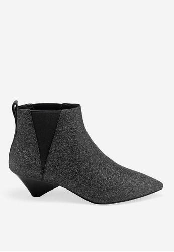 ASH black Cosmos - Black Glitter Rendition Ankle Boots 0EF7ASH674A8EDGS_1