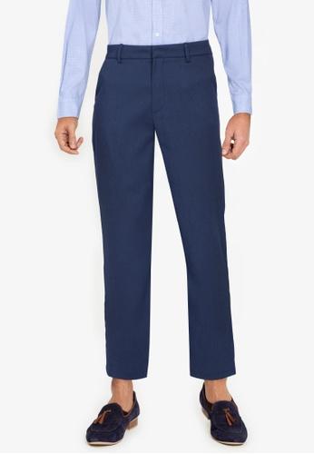 ZALORA BASICS navy Straight Cut Trousers CD163AA2BB48F4GS_1
