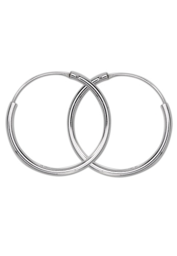 SC Tom Silver silver Curve line design Loop Earring SC872AC02IBPPH_1