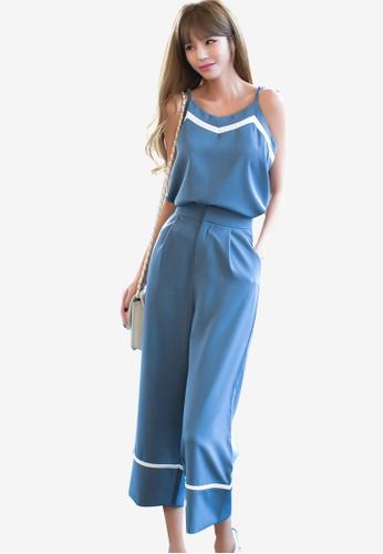 Shopsfashion blue Cami and Culottes Twin Set 4B0F5AA69F7594GS_1