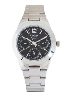 【ZALORA】 LTP-2069D-1AVDF 多錶盤不銹鋼錶