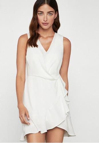BCBG Max Azria white Gathered Mini Dress 1A68AAA92DFBCFGS_1