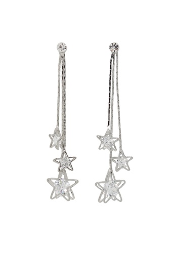 Jaysa Collection gold Starry, Starry Palladium Earrings With Class AAA Zirconias JA875AC0GPWQSG_1