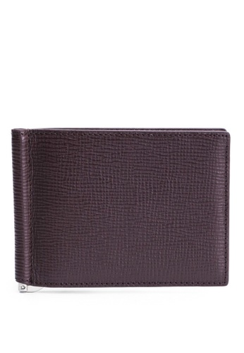 Faire Leather Co. red Specter CG1 Bifold Wallet with Money Clip (Burgundy) - Slim Leather Wallet 5E149AC3C282FAGS_1