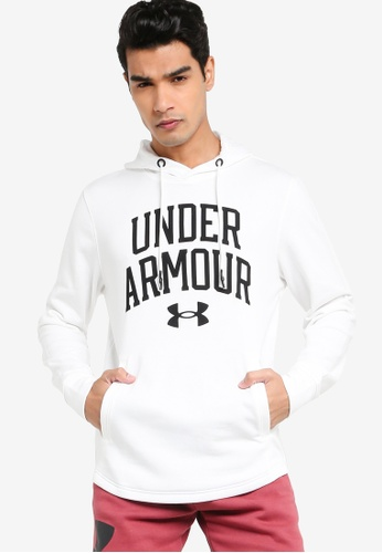 Under Armour 白色 Rival Terry Collegiate Hoodie 34286AAD29B75FGS_1