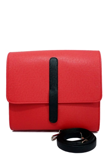 Louiebelle Collection red Marckie Satchel Bag LO122AC87PGYPH_1