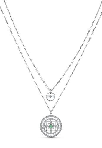 Swarovski white Swarovski Symbolic Mandala Necklace B0B34AC7B665EEGS_1