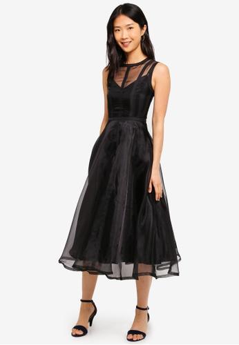 Megane black Red Romance Lauren Midi Dress 60961AAE9B96F0GS_1