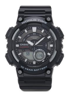 231abee66d569 Casio black Casio AEQ-110W-1AVDF Watch CBAACACF5043F0GS 1