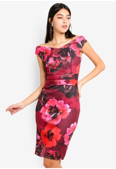 9d1d58070fc Dorothy Perkins multi Red Floral  Sophie  Bodycon 0344EAAF03365BGS 1