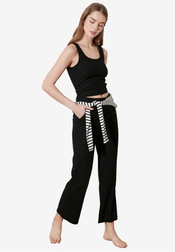 Trendyol black 2-Piece Knit Tank Top and Bottom Set 7EEEAAADA61D2DGS_1