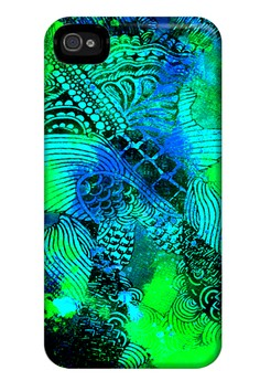 Surreal in Green Matte Hard Case for iPhone 4, 4s