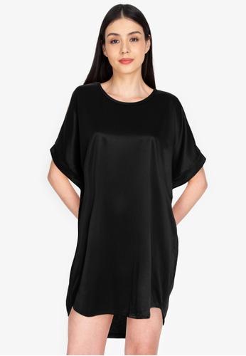 Chictees black Cindy Shirt Dress C912FAAADA90ECGS_1