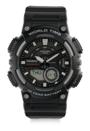 Casio black Unisex Analog Watches Aeq-110W-1Avdf D628AACAB1387BGS_1