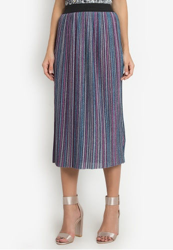 NOBASIC multi Muticolor Pleated Skirt 8287AAA3682F1CGS_1