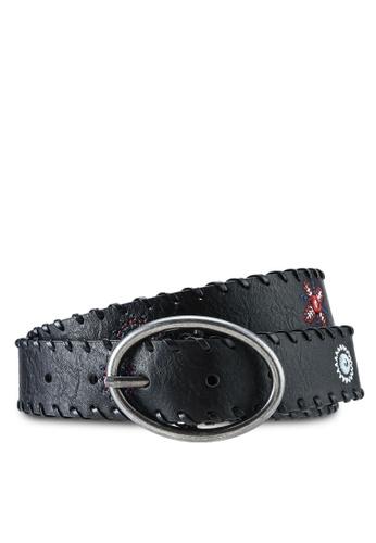 Desigual black Leather Effect Mandalas Belt 0BEA3AC9071EE6GS_1