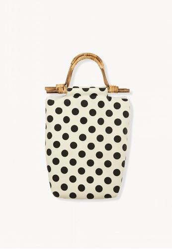 95120b938a Buy Pomelo Polka Dot Square Handbag - White Online on ZALORA Singapore