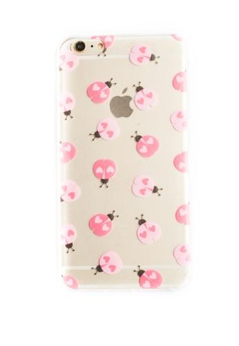 Fancy Cellphone Cases multi Lady Bugs Soft Transparent Case for iPhone 6plus/6splus FA644AC56XXBPH_1
