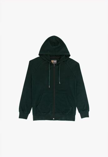 FOREST green Forest Stretchable Sweatshirt Cotton Terry Hoodie Men Jacket - Jaket Lelaki - 30398 - 40DkGreen 3CB38AAFFD2961GS_1