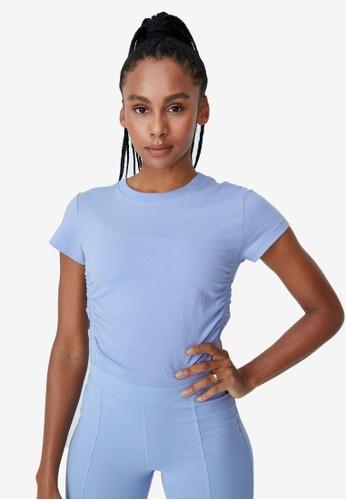 Cotton On Body blue Side Gathered T-Shirt 12CECAA5376E42GS_1