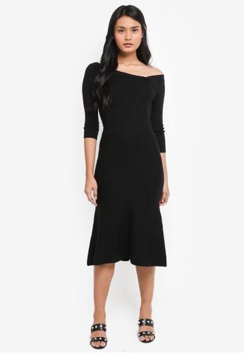 8c4ad9a0c4e0 Dressing Paula black Stretch-Knit Midi Dress 84EA9AA31DD7CCGS 1