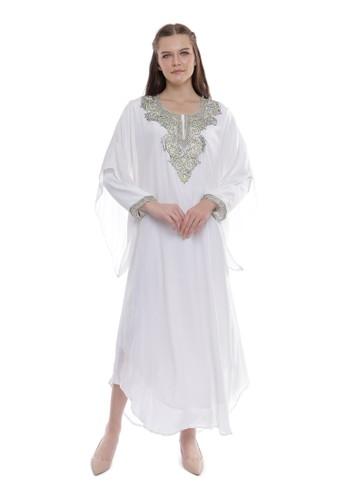 Devain Kapoor white Crystal Crepe Dress 6695FAAAAA3AF4GS_1