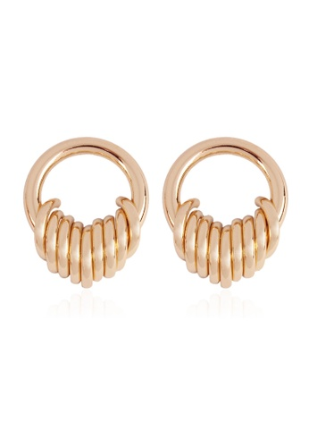 Kings Collection gold Gold Circle Earrings 6BA5FAC8DC09BDGS_1