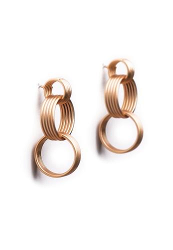 Gung Jewellery gold Cassi Small Hoop Earring in Matte Gold B5B72ACC50B5B2GS_1