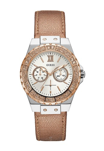 Guess Watch gold Guess Jam Tangan Wanita - Rosegold Silver - Leather Strap - W0023L7  C4EFCACCEB94D5GS_1