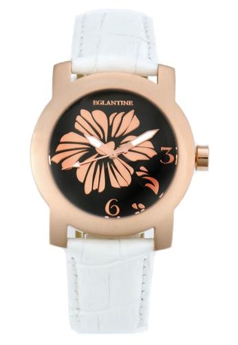 EGLANTINE pink EGLANTINE® Bauhinia Ladies Pink Gold Plated Steel Quartz Watch  on Leather Strap C0D07ACA7FBF22GS_1