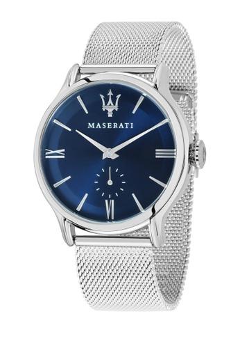 Maserati silver Epoca Quartz Watch R8853118006 Silver Metal Strap 4B63DACA78960AGS_1