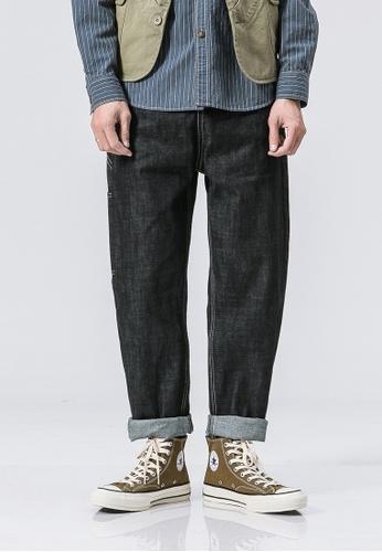 hk-ehunter black Casual Regular Fit Denim Jeans D528AAABE3400FGS_1
