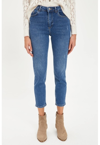 DeFacto blue Woman Denim Trousers B9E4DAA4A7511CGS_1