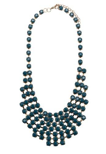 Cup Chain Bib Necklace With Acrylic Stone, 飾品esprit台灣網頁配件, 項鍊