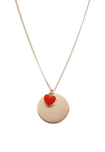 Pieces gold Tril Heart Necklace 72D8AAC6131911GS_1